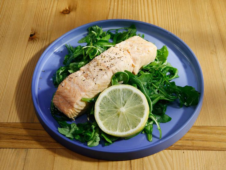 Poached Salmon recipe from The Kitchen via Food Network