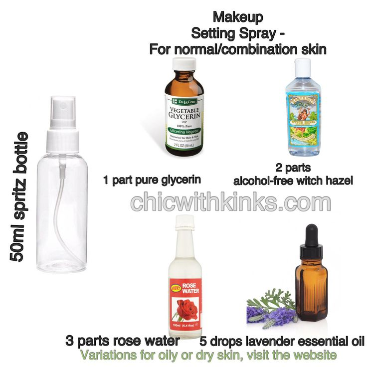 Diy Makeup Setting Spray Without Glycerin Or Aloe Vera