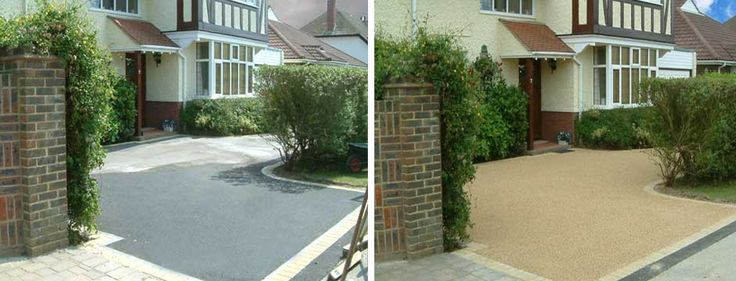 Resin-bound pavement: before-and-after