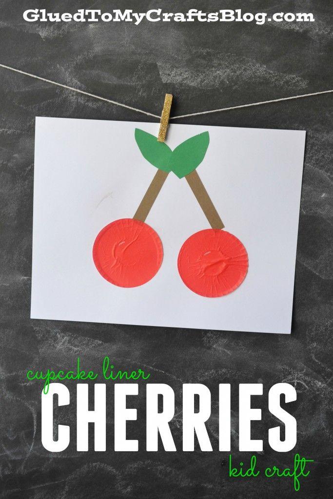 Cupcake Liner Cherries - Kid Craft