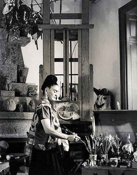 For Arts Sake | Artist Studio: Frida Kahlo in her studio