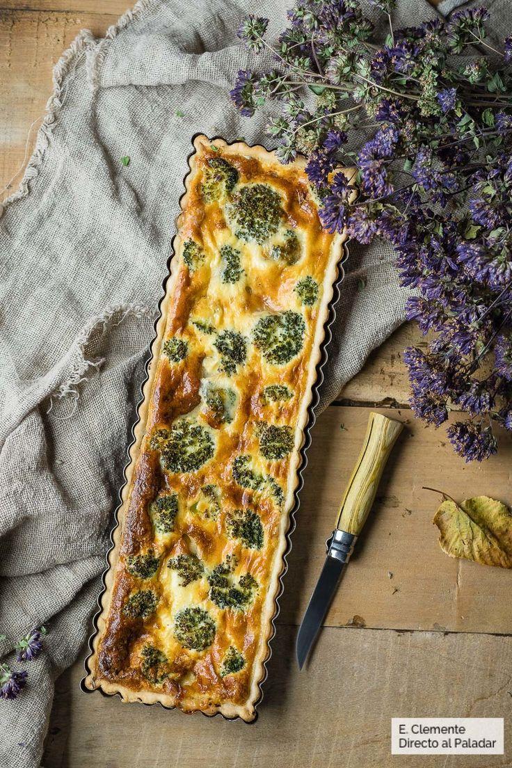 Quiche de brócoli y queso tetilla