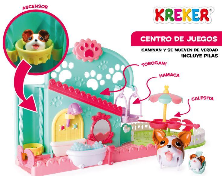 Centro de Juegos - #ChubbyPuppies Playset con sector de baño Ascensor, Tobogan, Hamaca y Calesita. 1 Perrito Chubby Puppy, 1 Bebé Puppy, 1 Canastita de paseo e Instrucciones.Incluye pilas Mas info: kreker@kreker.com #Kreker #Jugamos ?