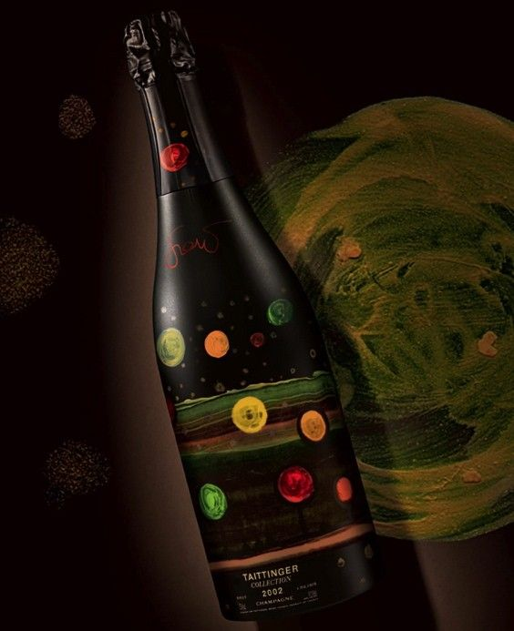 Since 1985 Taittinger Champagne has released a limited edition bottle each year that designed a different artist. For the 12th edition they commissioned artist Amadou Sow to great results.