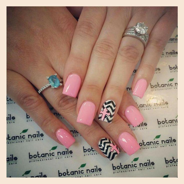 Pink\Chevron\Cross   Cross nails, Nails, Nail designs