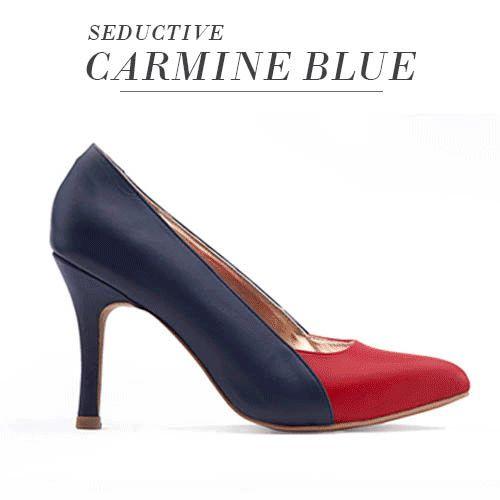 Seductive Carmine Blue  IDR.559.000 visit www.nortia.shoes #leathershoes #fashion #seductive #smartlooks