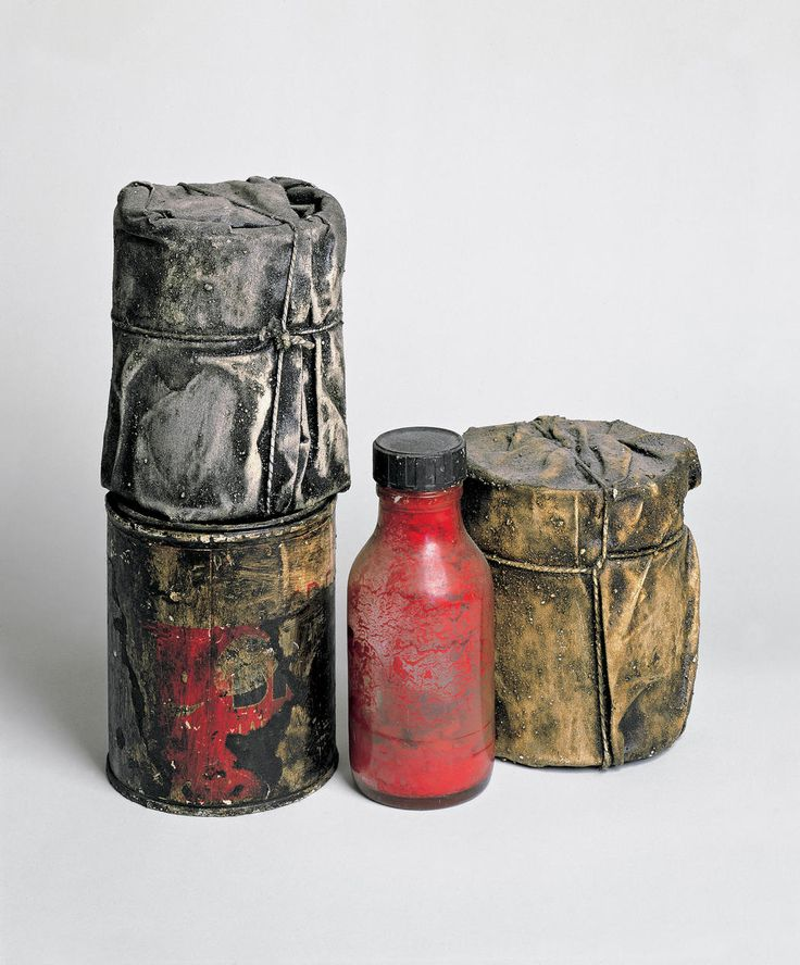 Wrapped Cans and a Bottle