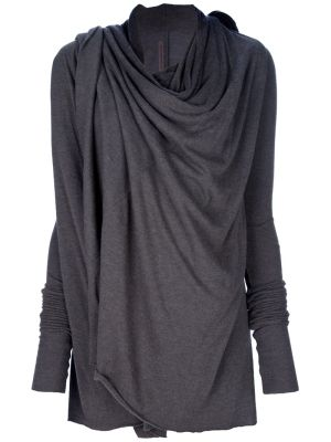 ❤️ this RICK OWENS draped cardigan by farfetch, perfect way to disguise problem areas, like the tummy area.