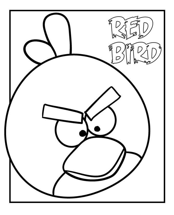 Nice Printable Angry Birds Coloring Pages