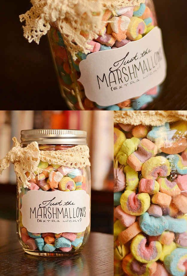 Lucky Charms Marshmallows. Cute present!