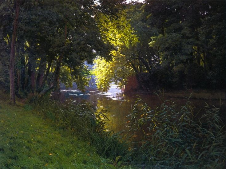 Henri Biva, By the river, signed Henri Biva (lower left) oil on canvas, 122 by 162 cm - Henri Biva - Wikipedia, the free encyclopedia