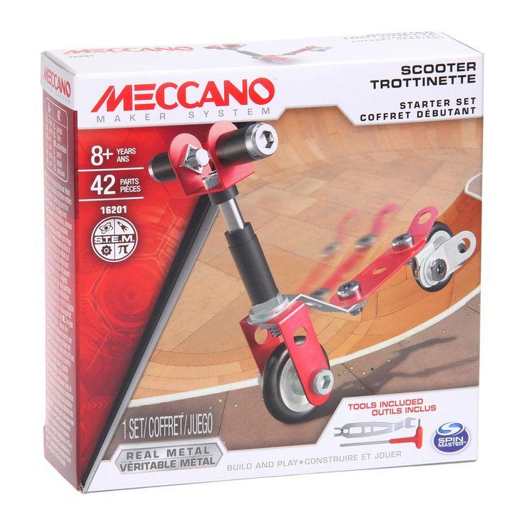 Met deze beginners set van Meccano maak je met de bijgeleverde tools een heuse helikopter! Bij de set komt een bouwtekening. Met een beetje creativiteit kan je van dit setje misschien ook nog wel wat anders bouwen. Vanaf 8 jaar.Afmeting: verpakking 12,5 x 12,5 x 4 cm - Meccano Beginner Set - Step