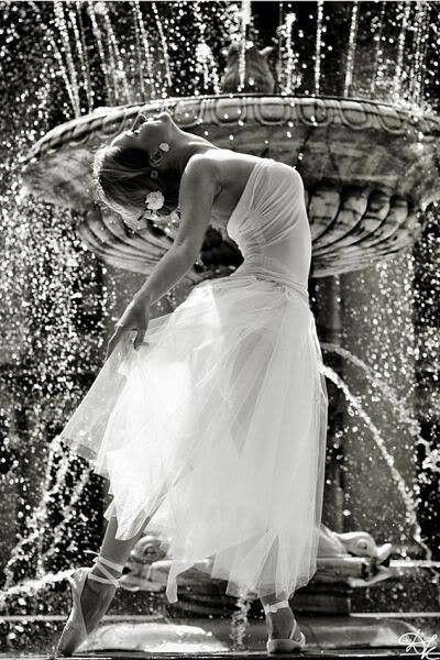 Dancing in the fountain...