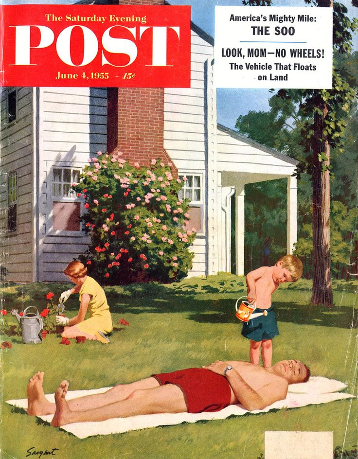 Saturday Evening Post- notice she is wearing a dress. How many women do you know…