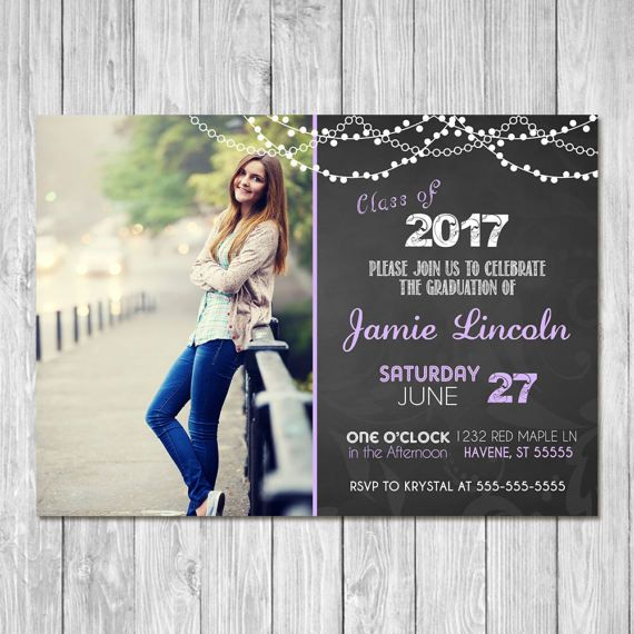 Make fabulous memories for the graduate with this gorgeous, unique Graduation invitation. This Graduation Invitation comes in either 5x7 or 4x6 inches.  Im happy to adjust any of the colors to match your theme. :)  ~~~~~~~~~~~~~Instructions for Purchase~~~~~~~~~~~~~~~  Step 1: Choose whether you would prefer a 4x6 or 5x7 card. Add the Graduation invitation to your cart and begin the checkout process. Step 2: In the Notes to Seller box, please include the following:  - Name of graduate - Date…