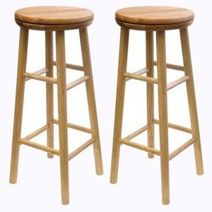 "Winsome Beechwood 30"" Swivel Stools Set of 2"