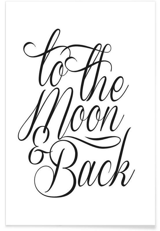 To The Moon als Premium poster door Honeymoon Hotel | JUNIQE