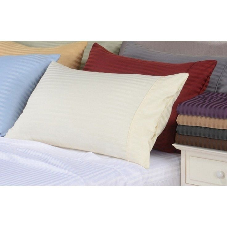 "21"" Deep Pocket- 5 SIZES-600TC Striped Cotton Bed Sheet Sets #BedSheets"
