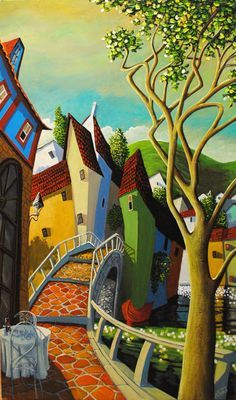 """""""Sunday Brunch"""" by Miguel Freitas, Canadian artist, born in Portugal. I must look into his stuff"""