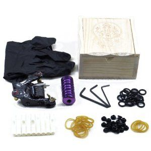 Tattoo Machine Grip Wooden Tattoo Machine Box Supply Set Tattoo Kits by QLPD. $52.82. This Tattoo Kits includes Tattoo Machine, Grip, and handy tools. This Tattoo Kits is a good choice for tattoo fancier. This Tattoo Kit is a must for your tattoo studio. Features: Smooth and powerful, low-vibration frame, upgraded brass contacts, dual 8-wrap coils, designed for lining Knurled professional tattoo machine grips, easy to clean and fully autoclavable, screws and back-stems are incl...