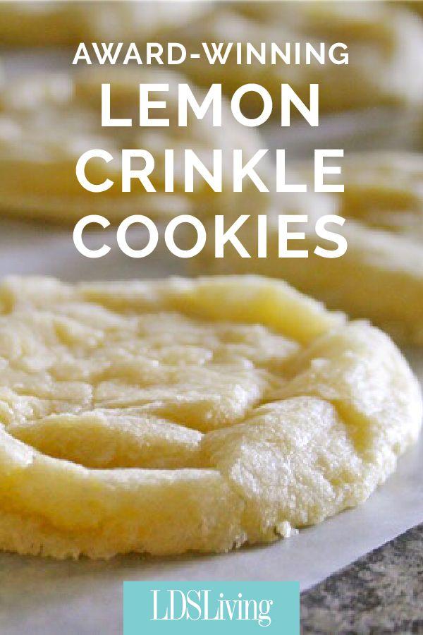 LDS Living Lemon Crinkle Cookie