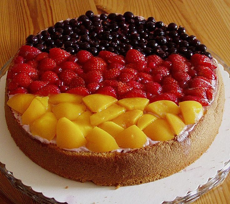 German flag cake