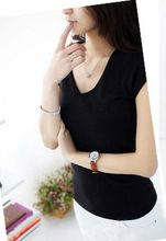 Free sample china supplier women V-neck cotton wholesale blank t-shirt   Best Buy follow this link http://shopingayo.space