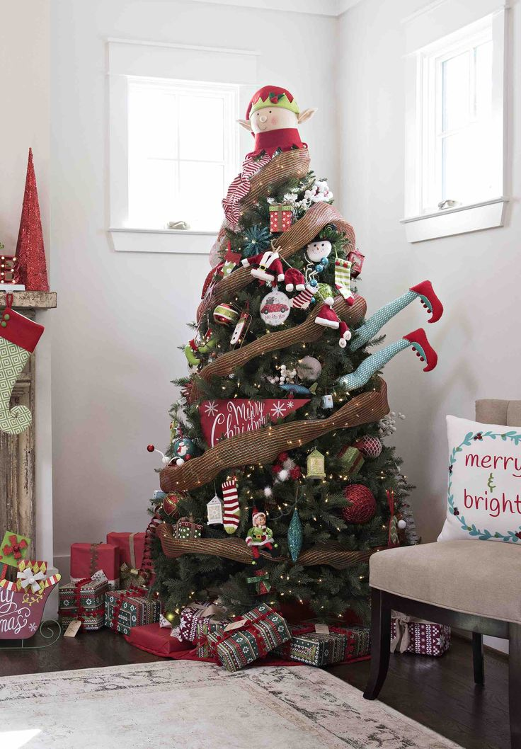 36 Best Christmas Tree Decorations Images On Pinterest Christmas  - Christmas Decorating Ideas Without A Tree