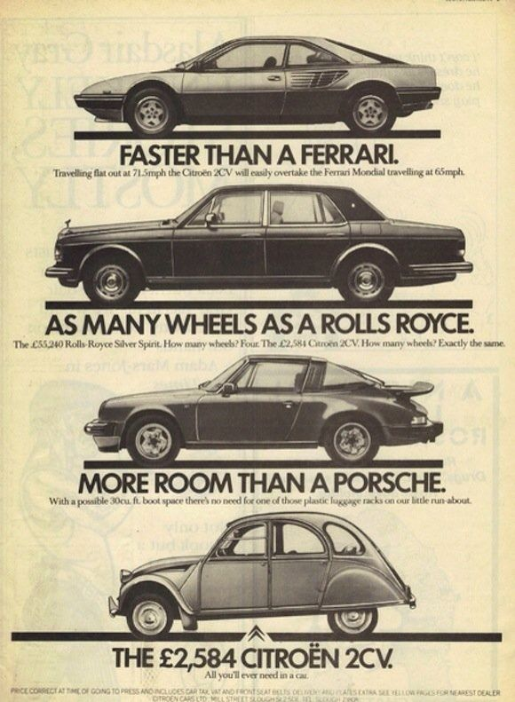 Old & clever Citroën Ad