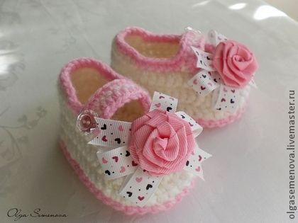 Детская обувь ручной работы. Ярмарка Мастеров - ручная работа Пинетки для принцессы. Handmade.