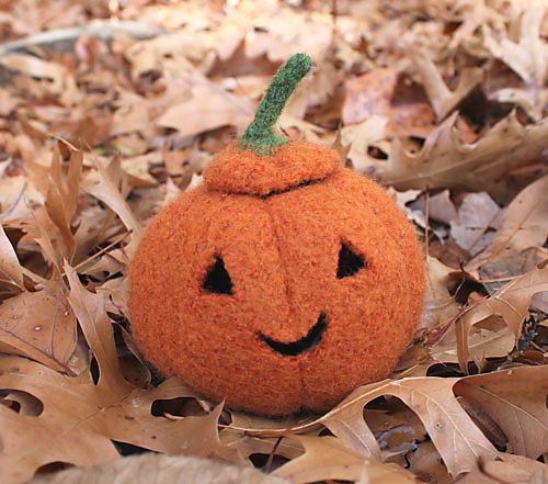 october pumpkins knit felted jack o lantern pattern tutorial - Free Halloween Knitting Patterns