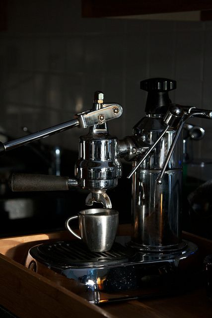 La Pavoni - we've got one of these! Handsome one :)