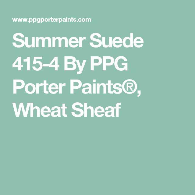 Summer Suede 415-4 By PPG Porter Paints®, Wheat Sheaf