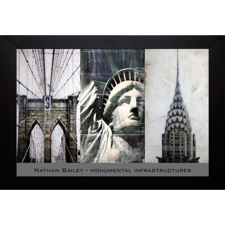 Nathan Bailey 'Monumental Infrastuctres' Framed Art Print