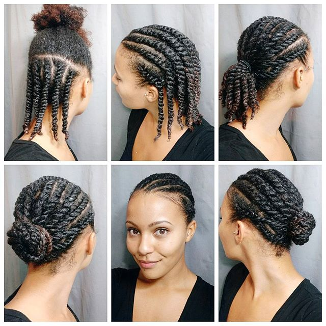 Back to my regularly scheduled hair styling!   I washed and deep conditioned my hair and then did some flat twists and styled them in a low bun. Super simple and neat. I like to do a top and bottom section of flat twists to make it easier to detangle and moisturize my hair.  #flattwist #naturalhairtutorial