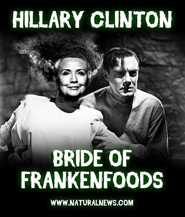 Bride of Frankenfood: Hillary Clinton pushes GMO agenda... hires Monsanto lobbyist... takes huge dollars from Monsanto - NaturalNews.com