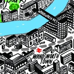Wandsworth - Visit London Map