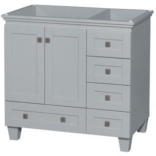 Wyndham Collection Acclaim 36 Inch Oyster Grey Single Vanity (No Top, No  Sink, No Mirror), Size Single Vanities