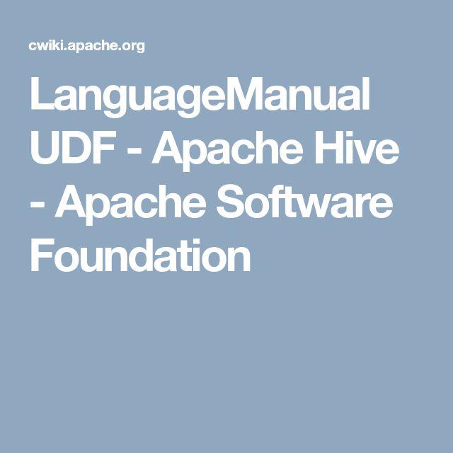 LanguageManual UDF - Apache Hive - Apache Software Foundation