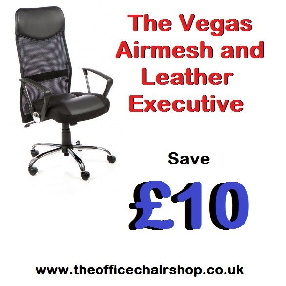 The Vegas Air Mesh And Leather Executive Chair Features An Adjule