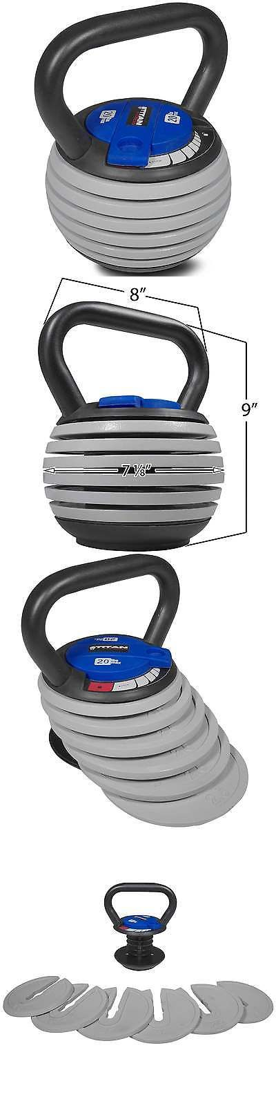 Kettlebells 179814: Titan Fitness 5 - 20 Lb Adjustable Kettlebell Weight Lifting Swing Workout -> BUY IT NOW ONLY: $65 on eBay!