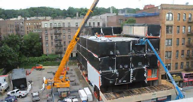 Watch A New Prefab Building Rise In NYC, Stack By Stack