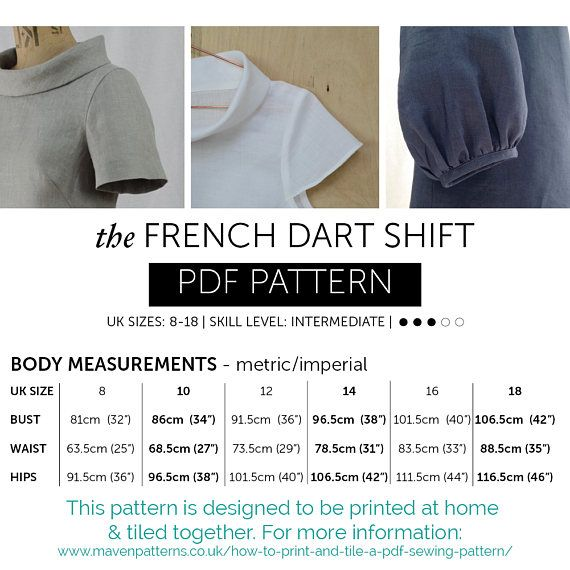shift dress sewing pattern pdf