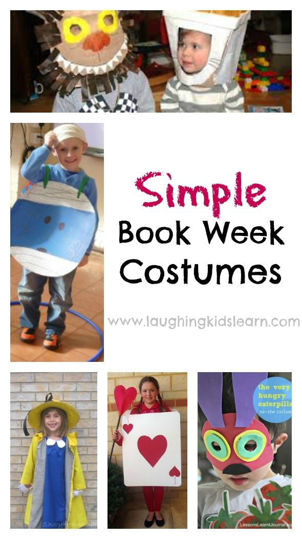 A collection of simple book week costume ideas that you can easily make and prepare at home for your child to parade in. Dress up play is great fun.