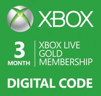 REWARD: Xbox Live 3 Month Gold Membership EvoBay