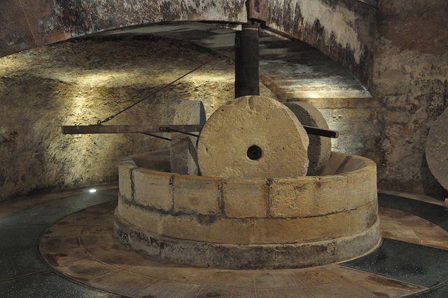 part of underground wine cellar, puglia
