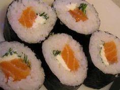 Recette Sushi Maki saumon fumé - fromage - ciboulette
