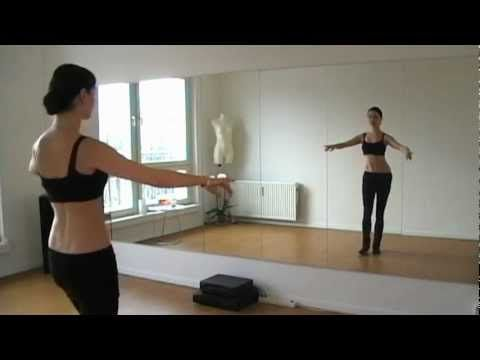 """Belly-Dance Drills containing hip Slides, Lifts and Mayas will improve your dancing skills while working on your posture, core-strength and flexibility.    Music: """"Oriental Grooves Vol.1"""" by Sayed Balaha"""