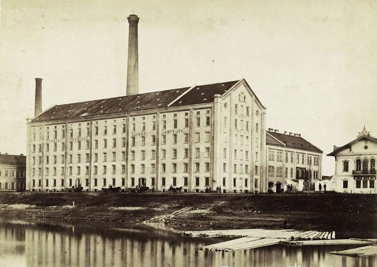 Újpesti rakpart, Erzsébet gőzmalom. A felvétel 1880-1890 között készült. A kép forrását kérjük így adja meg: Fortepan / Budapest Főváros Levéltára. Levéltári jelzet: HU.BFL.XV.19.d.1.05.155