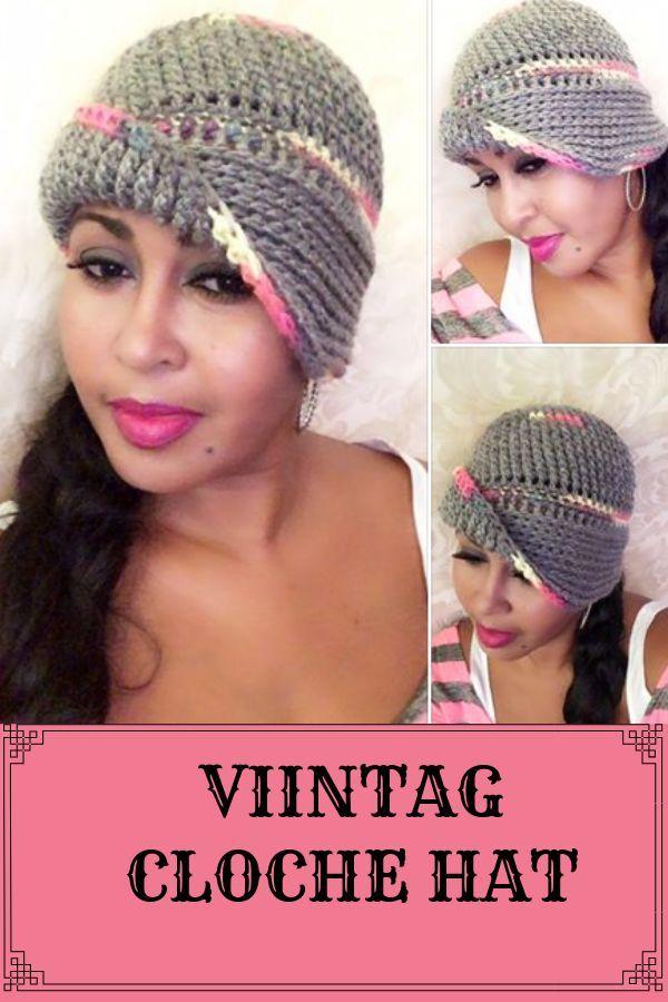 Crochet Vintage Cloche Hat Pattern 1920s Flapper Cloche Hat